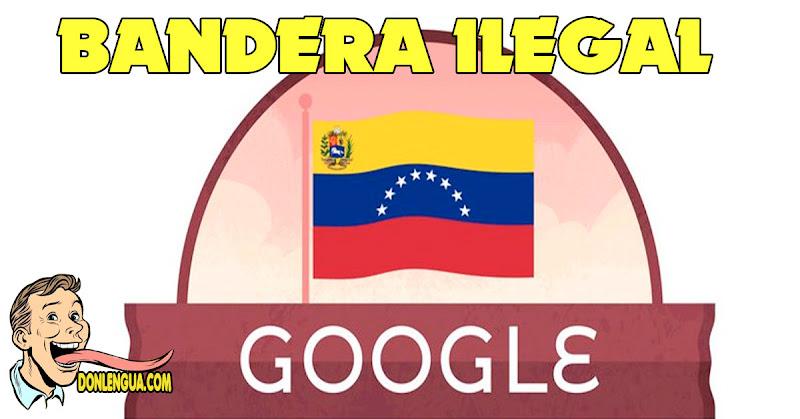 Google celebra Independencia de Venezuela con una bandera ilegal y un caballo al contrario