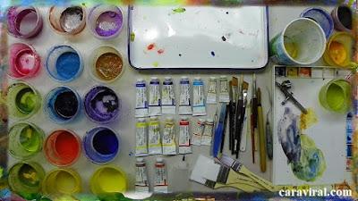 Alat untuk melukis beserta bahan yang digunakan ketika melukis. Alat untuk melukis beserta kegunaan dan contoh. Media seni lukis