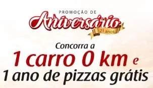 Promoção Bella Capri Pizzaria 1 Ano Pizza Grátis e Carro 0KM - Aniversário 2019