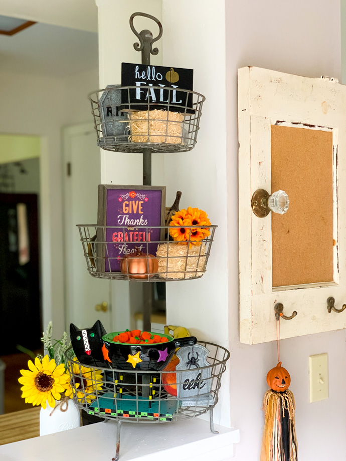 Fall Tiered Baskets