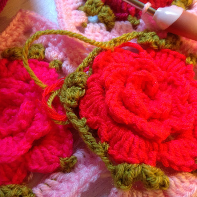 Crochet Rose Squares Yummery Scrummery