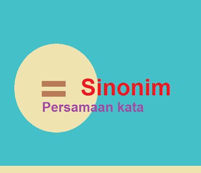 Pengertian Sinonim serta beberapa contoh pasangan kata bersinonim yang jarang diketahui