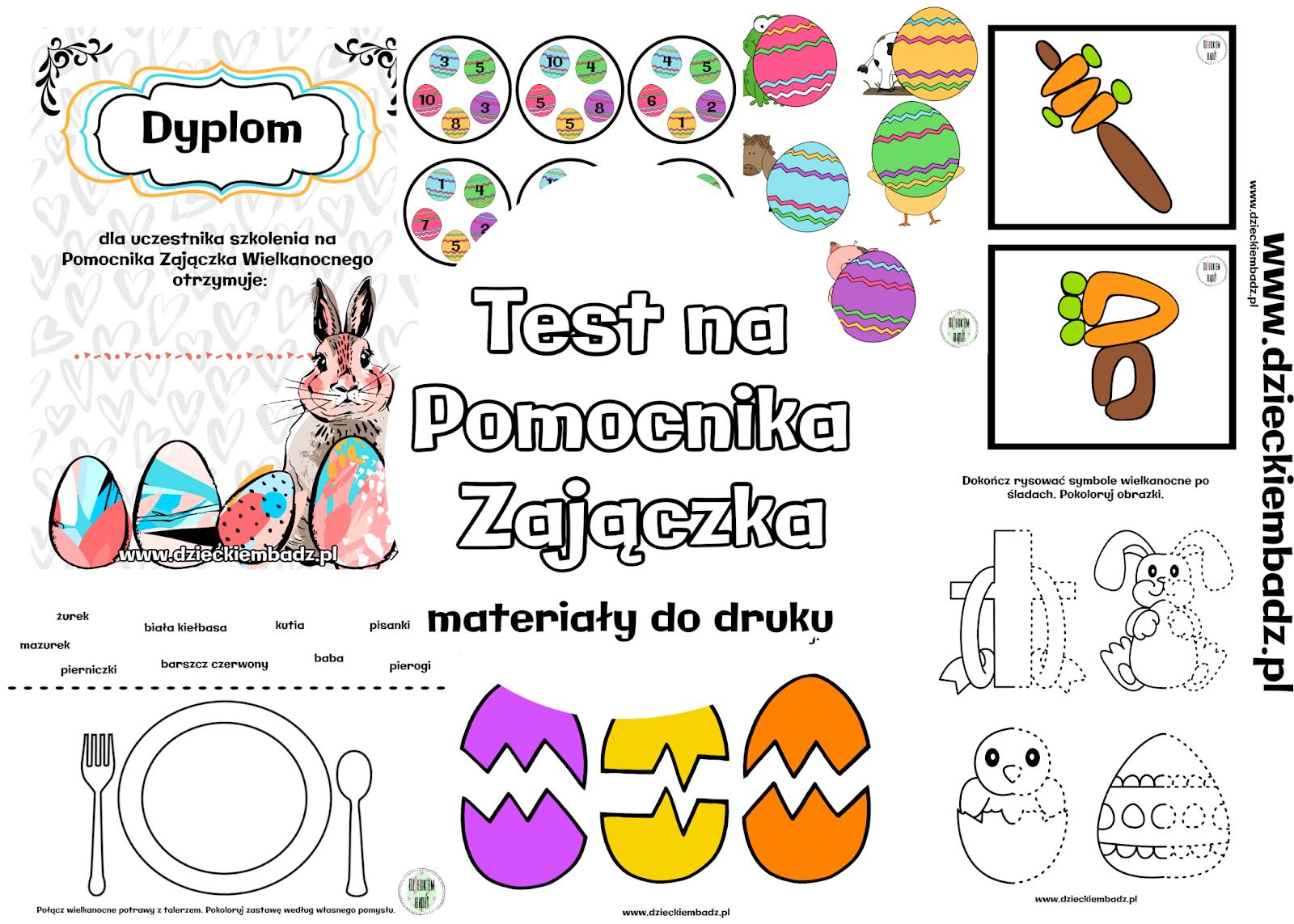 Dzieckiem bądź: Test na pomocnika Zajączka Wielkanocnego