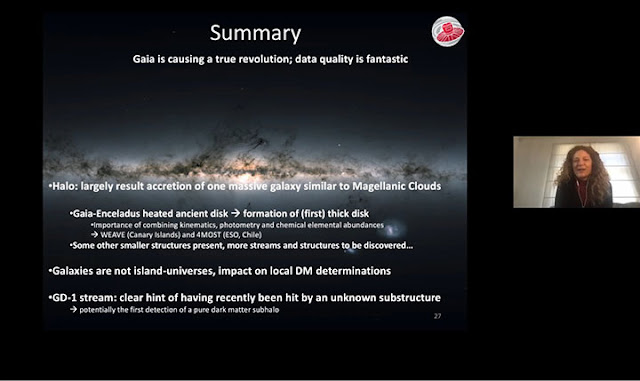 Summary slide of Gaia findings;  But what is the Gaia-Enceladus sausage? (Source: Amina Helmi, APS April 2020)