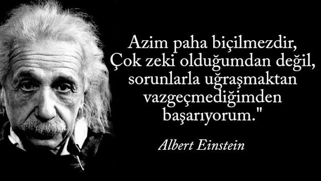 Albert Einstein Sözü