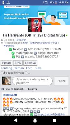 facebook mbah tri hariyanto terbaru