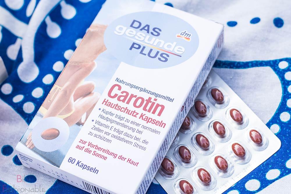 Top 3 Sommerprodukte das gesunde Plus Carotin Hautschutz Kapseln