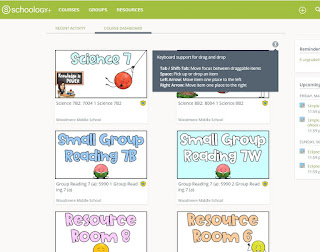 Schoology plus allows teachers more options to personalize their dashboard to suit their needs for grade 5 6 7 students.