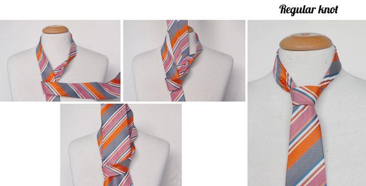 Regular tie knot instructions