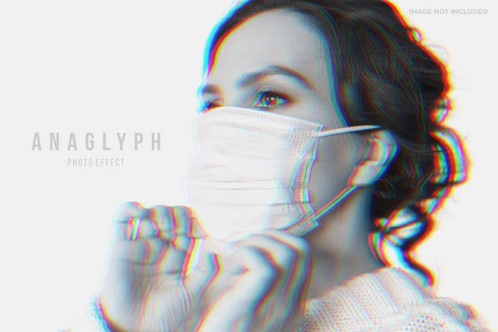 Anaglyph Photo Effect PSD Template