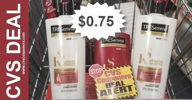 Tresemme Shampoo CVS Deal $0.75