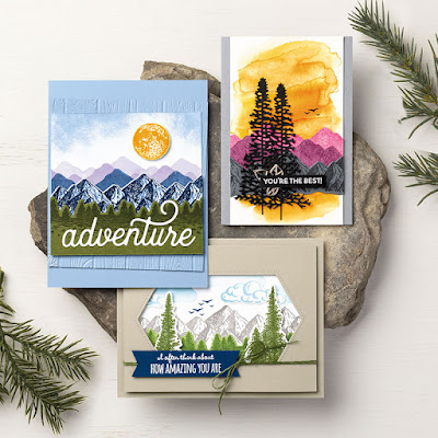 7 Stampin' Up! Majestic Mountain Air Projects ~ January-June 2020 Mini Catalog