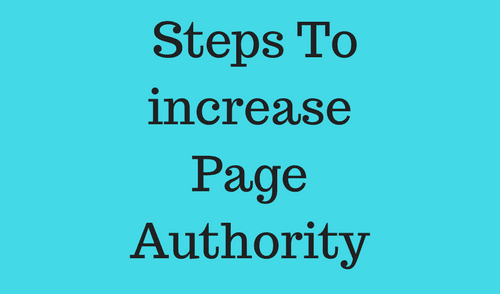 How to increase Page Authority