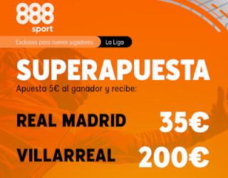 888sport Superapuesta Liga Real Madrid vs Villarreal 16 julio 2020