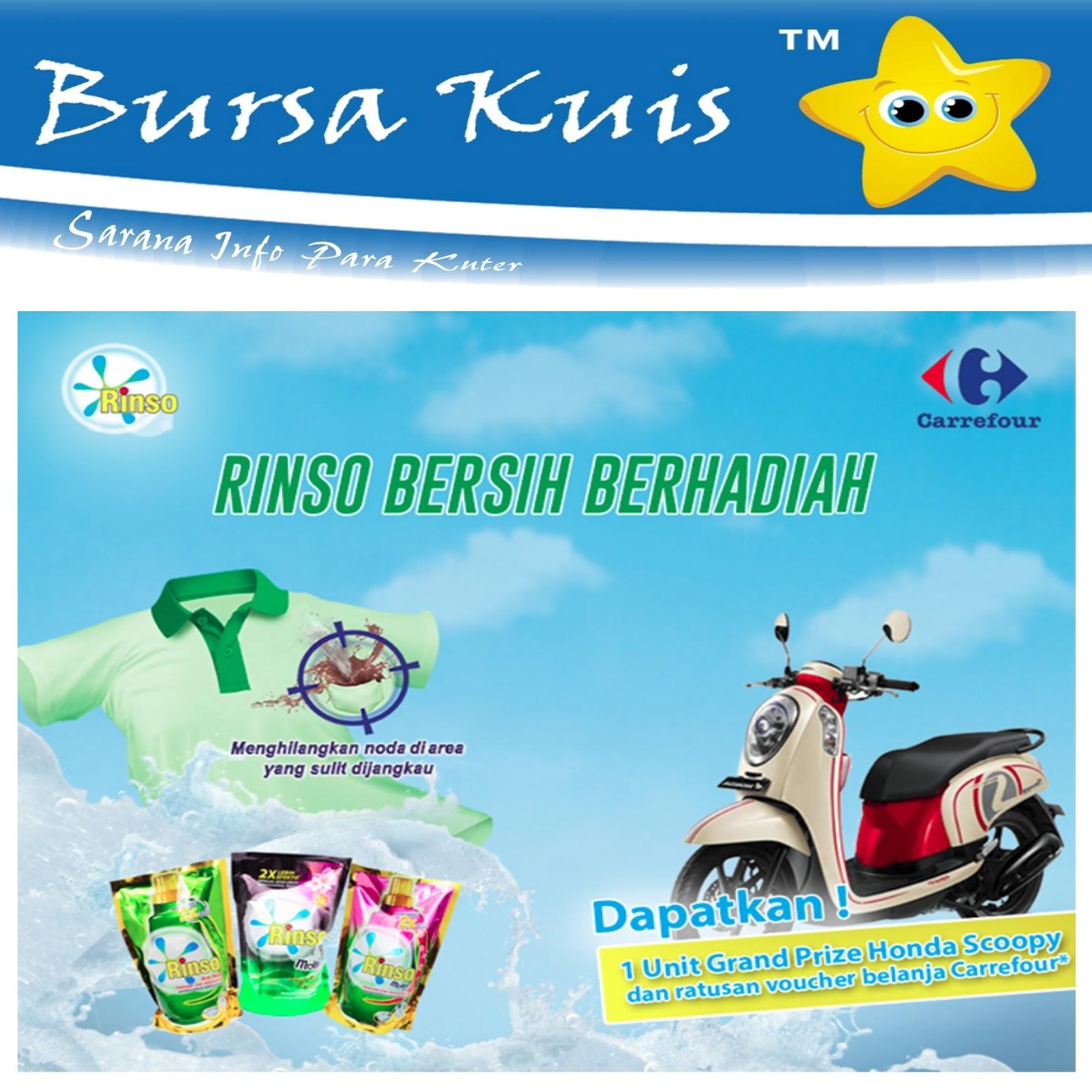 Undian Rinso Bersih Bersama Carrefour Berhadiah Motor Scoopy