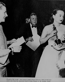 Joan Fontaine Olivia de Havilland 1947 Oscars