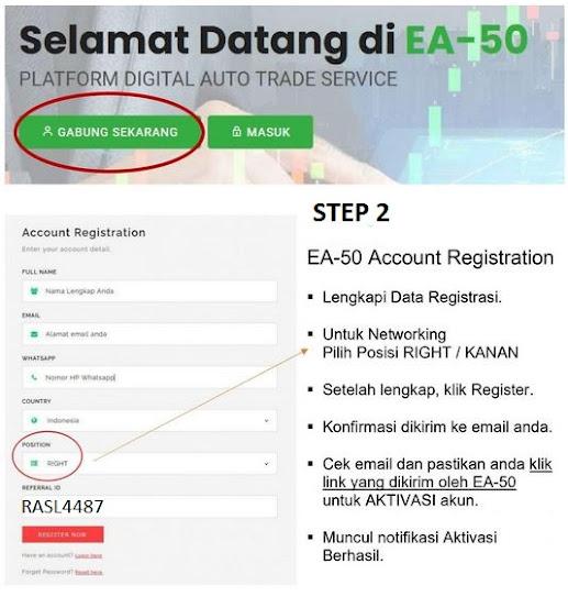 Cara Daftar EA-50,Cara Daftar EA50