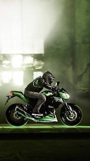 Kawasaki Bike Rider Mobile HD Wallpaper