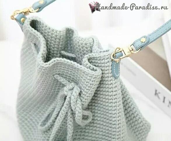 Сумка-ведро крючком. Схемы вязания (1)
