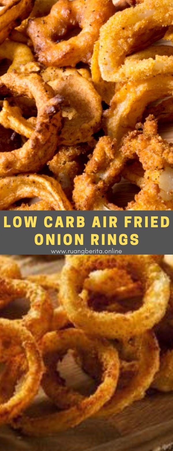 Low Carb Air Fried Onion Rings #appetizer #lowcarb #air #fried #onion #ring