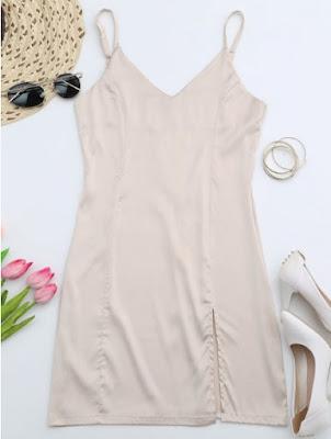 vestido lencero slip zaful verano