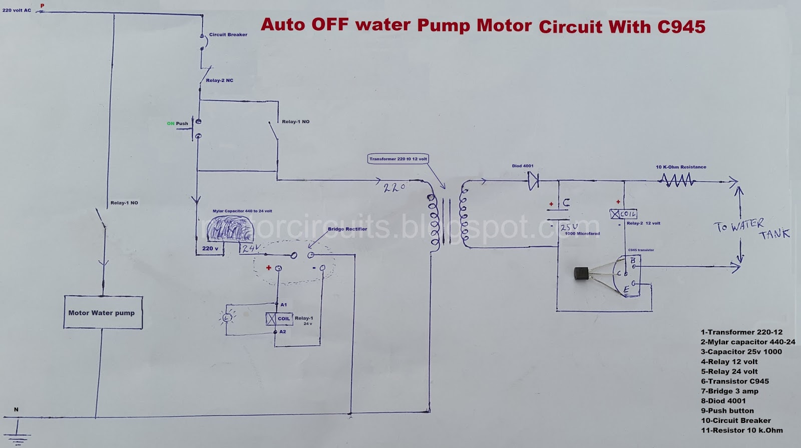 Water Tank Overflow Alarm Circuit Diagram Engineersgarage