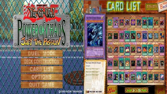 تحميل لعبة يوغي عربي Yu Gi Oh! Power of Chaos Joey The Passion بدون تسطيب
