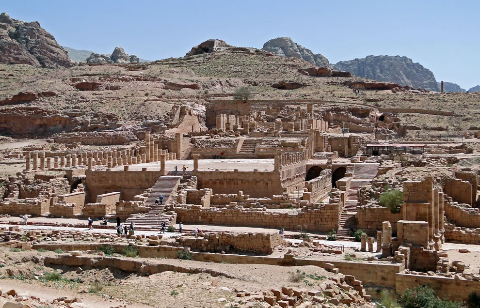 Город Петра в Иордании, холмистый регион
