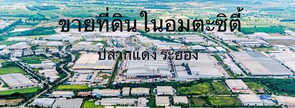 ขายที่ดินในนิคมอมตะซิตี้ระยอง พื้นที่สีม่วงสร้างโรงงานได้ อ.ปลวกแดง จ.ระยอง