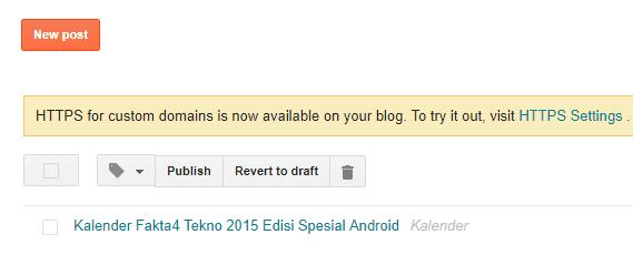 HTTPS Custom domain blogger