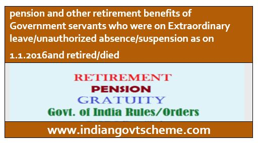 Retirement benefits of Government