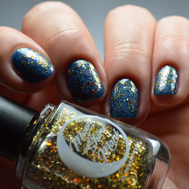 gold bronze flakie nail polish