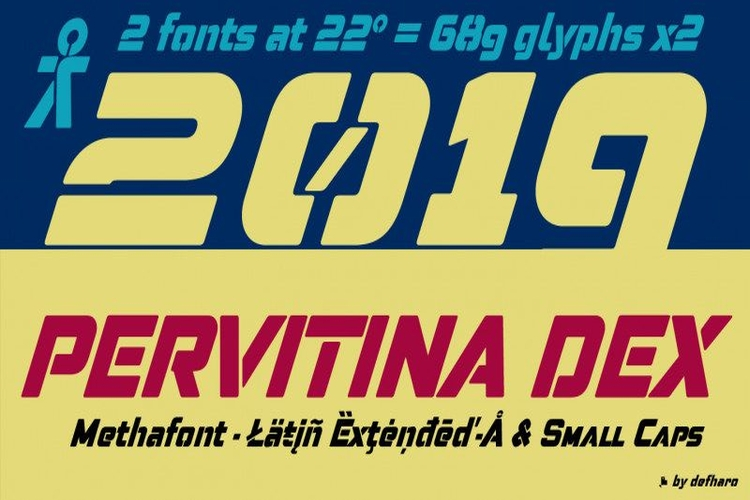 Pervitina Dex Font - Free Display Sans Serif Typeface
