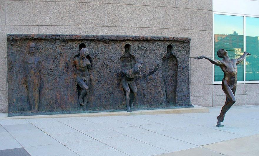 Break Through From Your Mold By Zenos Frudakis,Philadelphia,Pennsylvania,USA