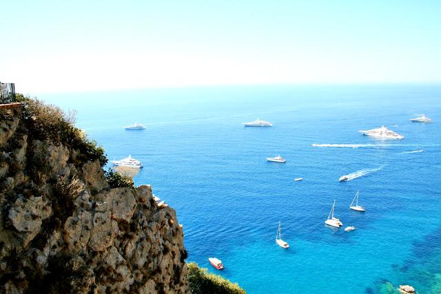 mare, acqua, barche, scogli, costa, Capri