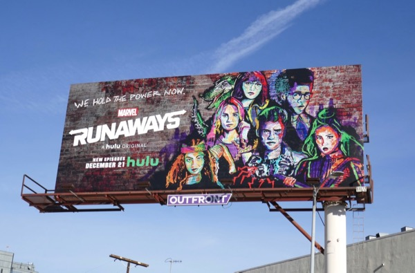 Marvel Runaways season 2 billboard