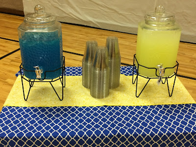 Beverage Table at the Relief Society dinner party