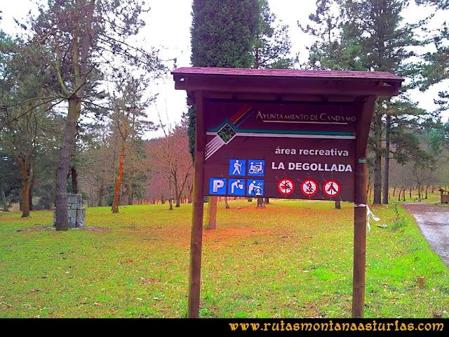 Rutas Montaña Asturias: Área recreativa de la Degollada