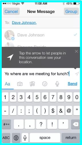 how to send facebook messages without using messenger app