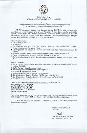 Lowongan Kerja D3/S1 di Badan Tenaga Nuklir Nasional (BATAN) Februari 2021