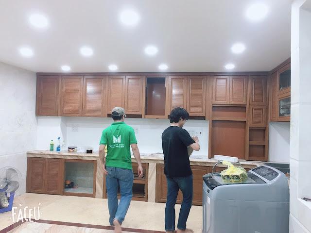Mẫu tủ bếp nhôm Omega đẹp 01