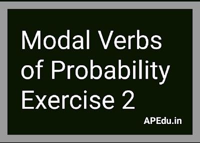 Modal Verbs of Probability Exercise 2