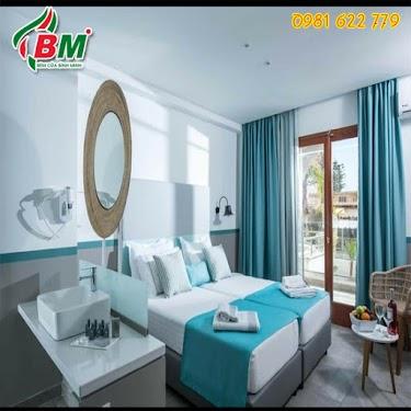 Màn vải bình minh chất đẹp dày dặn cho phòng ngủ và phòng khách,công trình tại bình long 0981.622.779