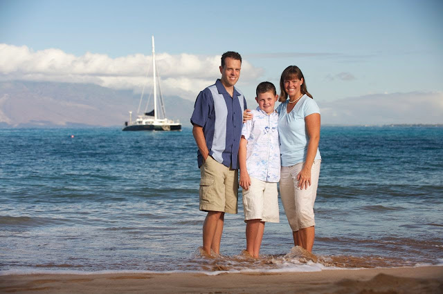 wailea maui family portrait photography on the beach