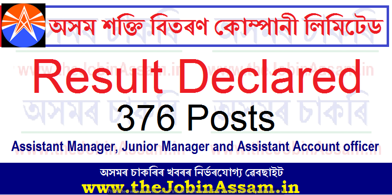 APDCL Result 2021: Check Results of 376 AM, JM & AAO - Interview & Document Verification Schedule
