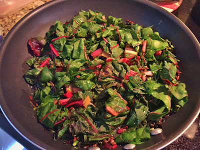 Preparing beet greens and swiss chard