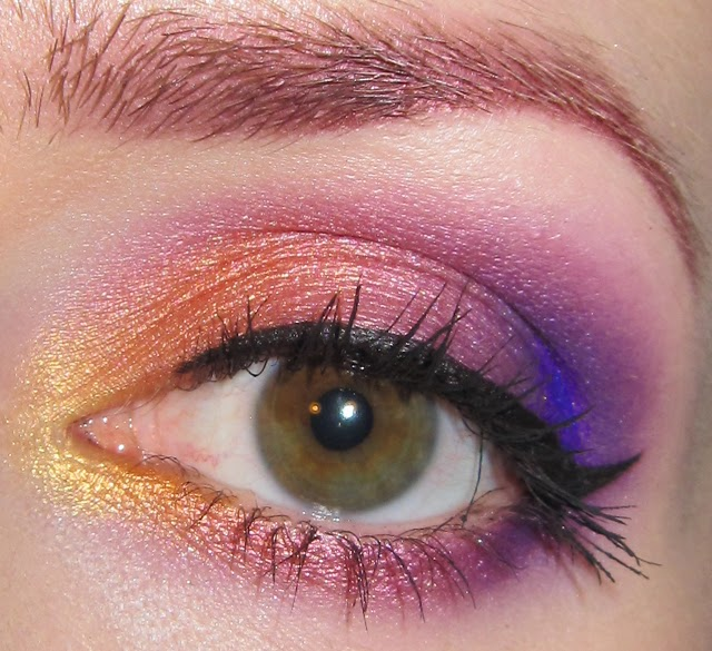Ring In A Spicy Hot Palette Of Colors That Go With Orange: Glitter Is My Crack...: Gold, Orange, Pink And Purple Eye
