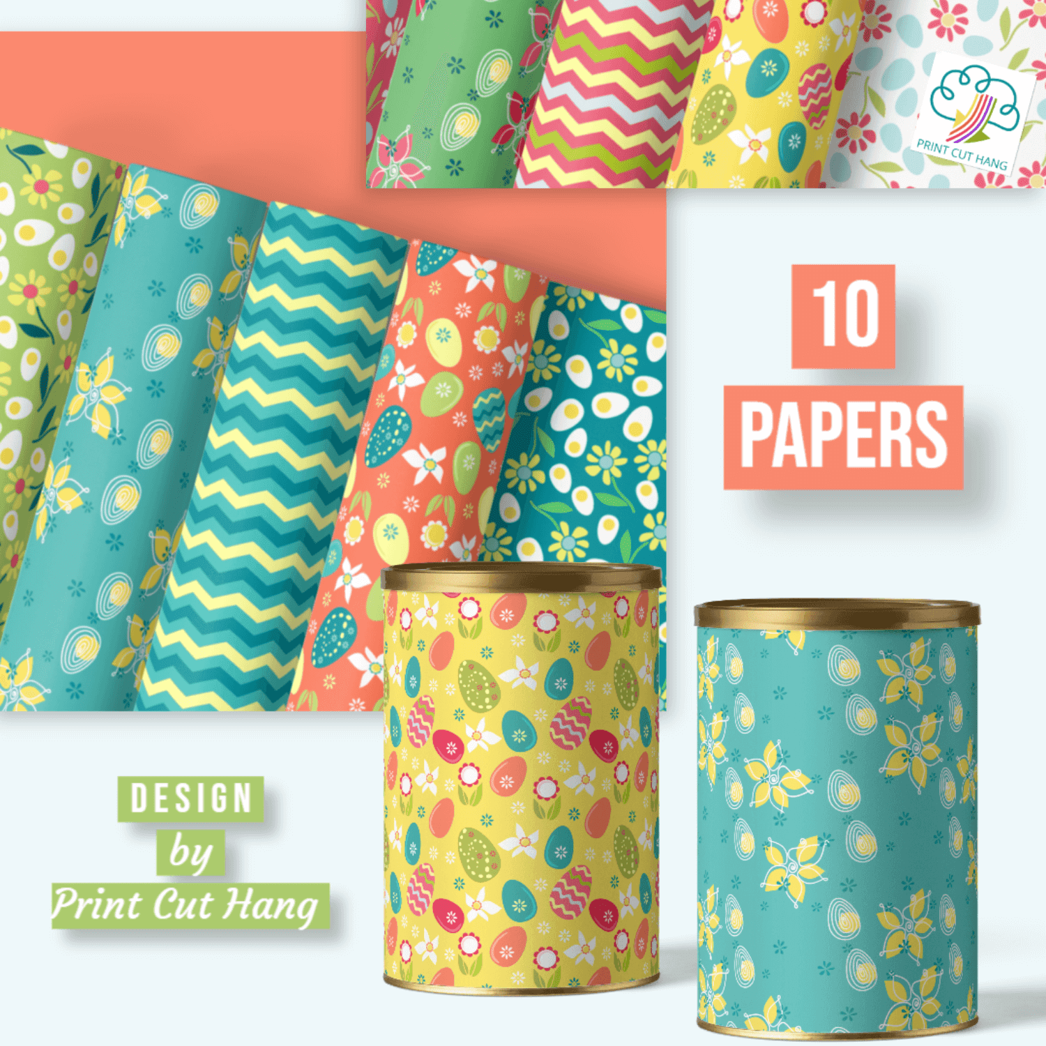 10 Spring Easter papers