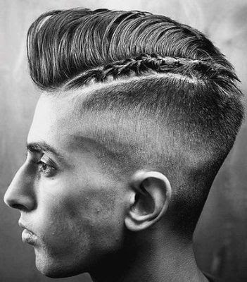 35 Modern Haircut For Men in 2020 - Braided skin taper with a pompadour