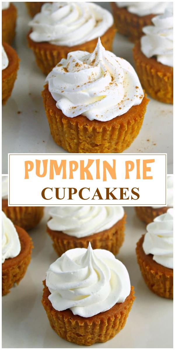 PUMPKIN PIE CUPCAKES #cupcakerecipes